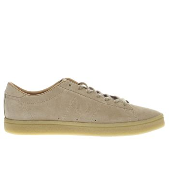 FRED PERRY STONE SPENCER SUEDE CREPE TRAINERS