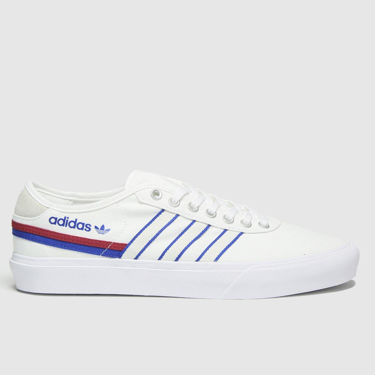 Adidas White & Blue Delpala Trainers