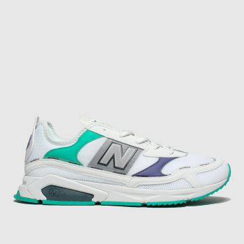 New Balance White & Green XRC Trainers