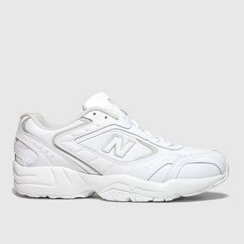 New Balance White & grey 452 Mens Trainers