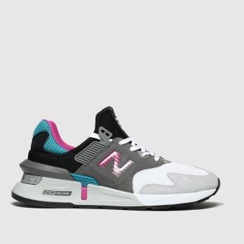 New Balance Black & Grey 997 Trainers
