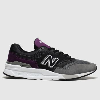New balance Black & Purple 997 Mens Trainers#