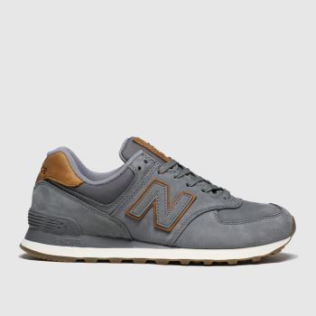 New balance Brown & Grey 574 Premium Mens Trainers