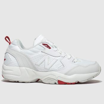New Balance White & Red 708 Mens Trainers