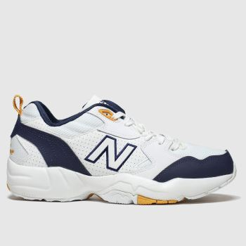 New Balance White & Navy 708 Trainers