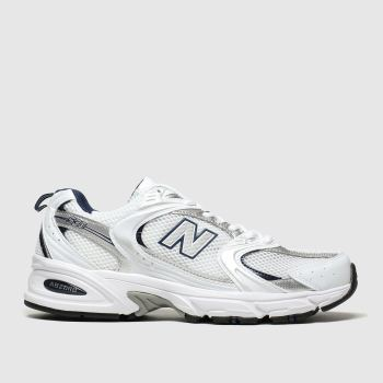 New Balance White & Silver 530 Trainers