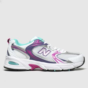 New Balance White & Pink 530 c2namevalue::Mens Trainers