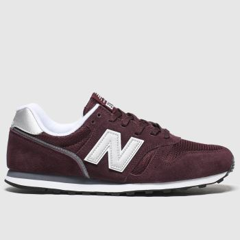 New balance Burgundy 373 V2 Mens Trainers#