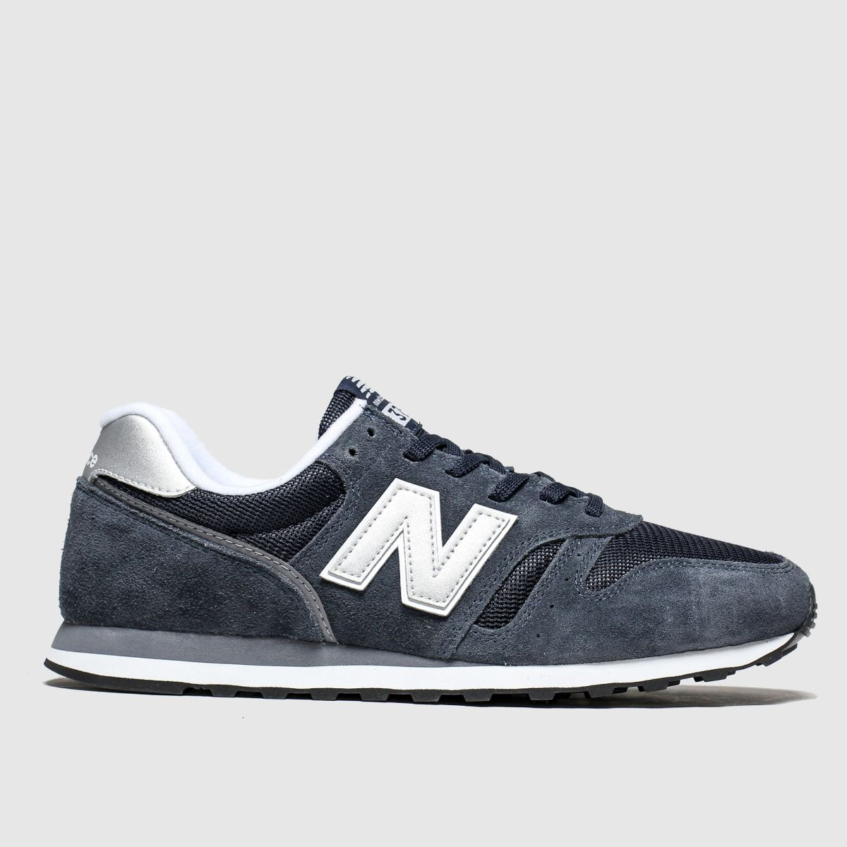 New balance navy & silver 373 v2 trainers