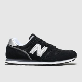 New Balance Black & Silver 373 V2 Mens Trainers