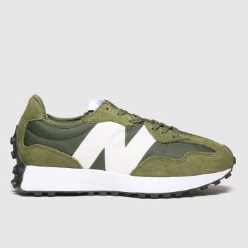 New balance Khaki 327 Mens Trainers#