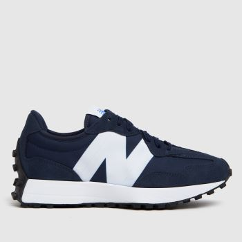 New balance Navy & White 327 Mens Trainers