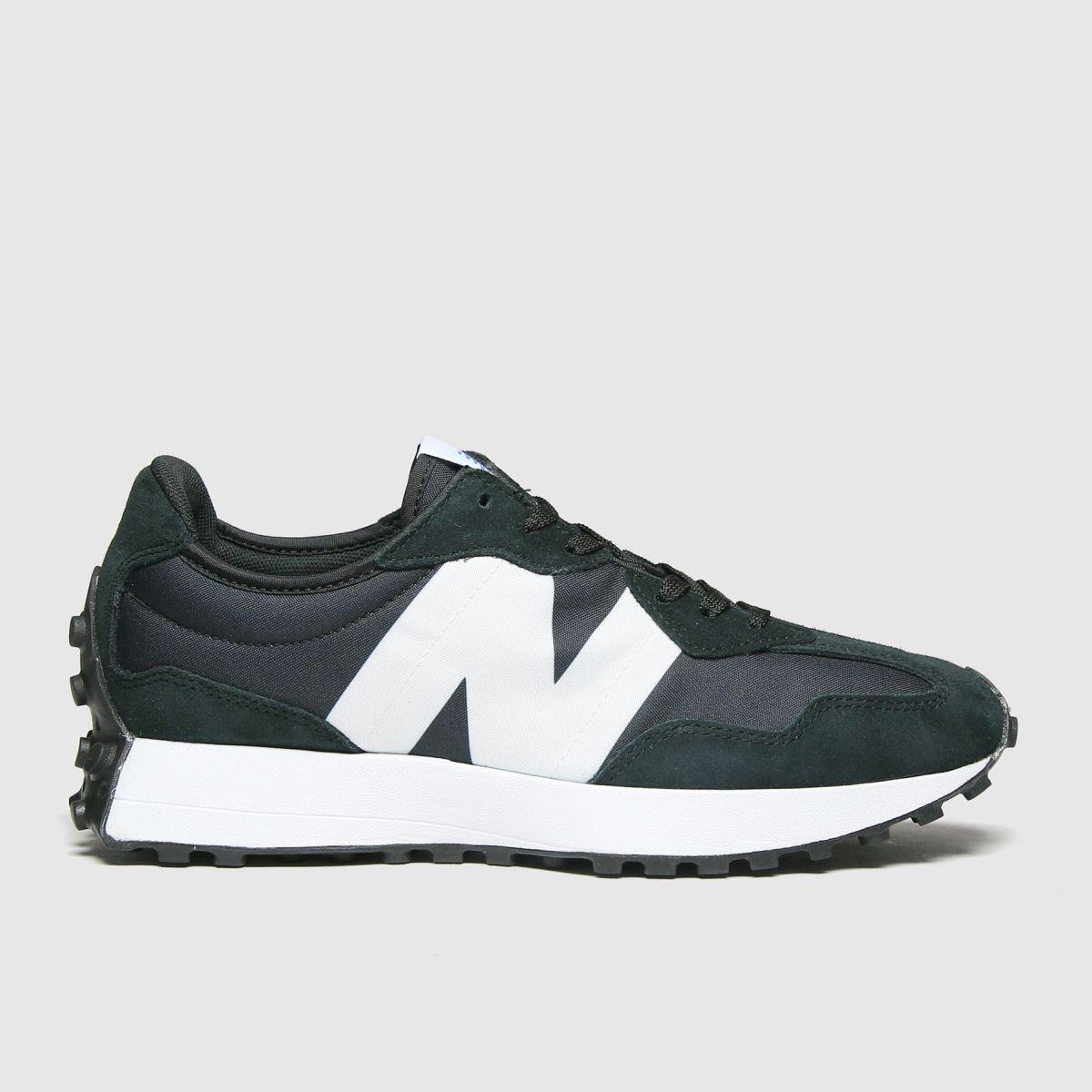 New Balance Black & White 327 Trainers