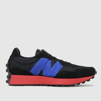 New balance Black & Navy 327 Mens Trainers