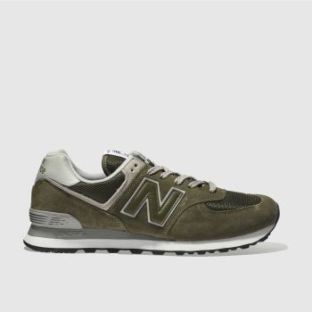 New Balance Khaki 574 Mens Trainers