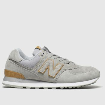 New Balance Brown & Grey 574 c2namevalue::Mens Trainers