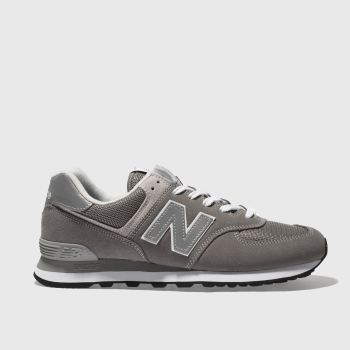 New Balance Grey 574 Mens Trainers c2674a1029aa