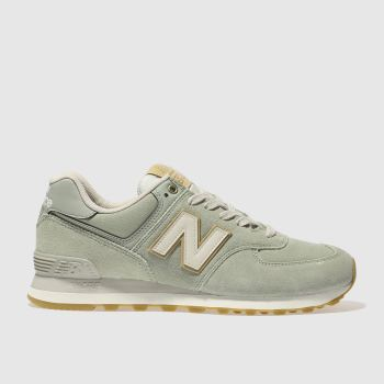 NEW BALANCE LIGHT GREEN 574 TRAINERS