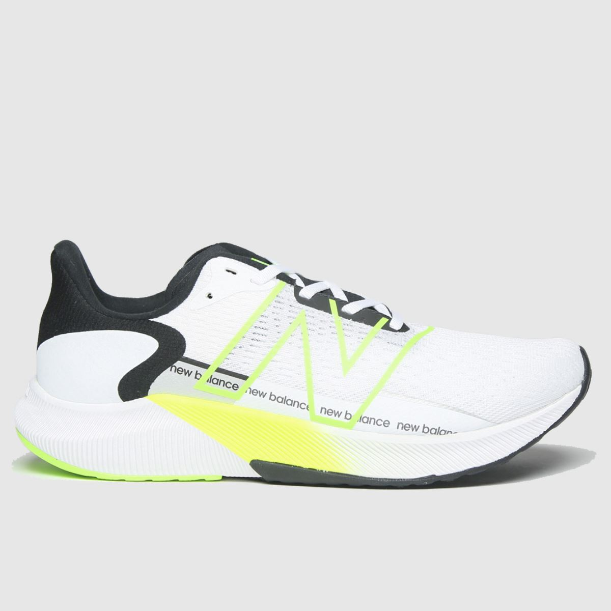 New Balance White & Green Fuelcell Propel V2 Trainers