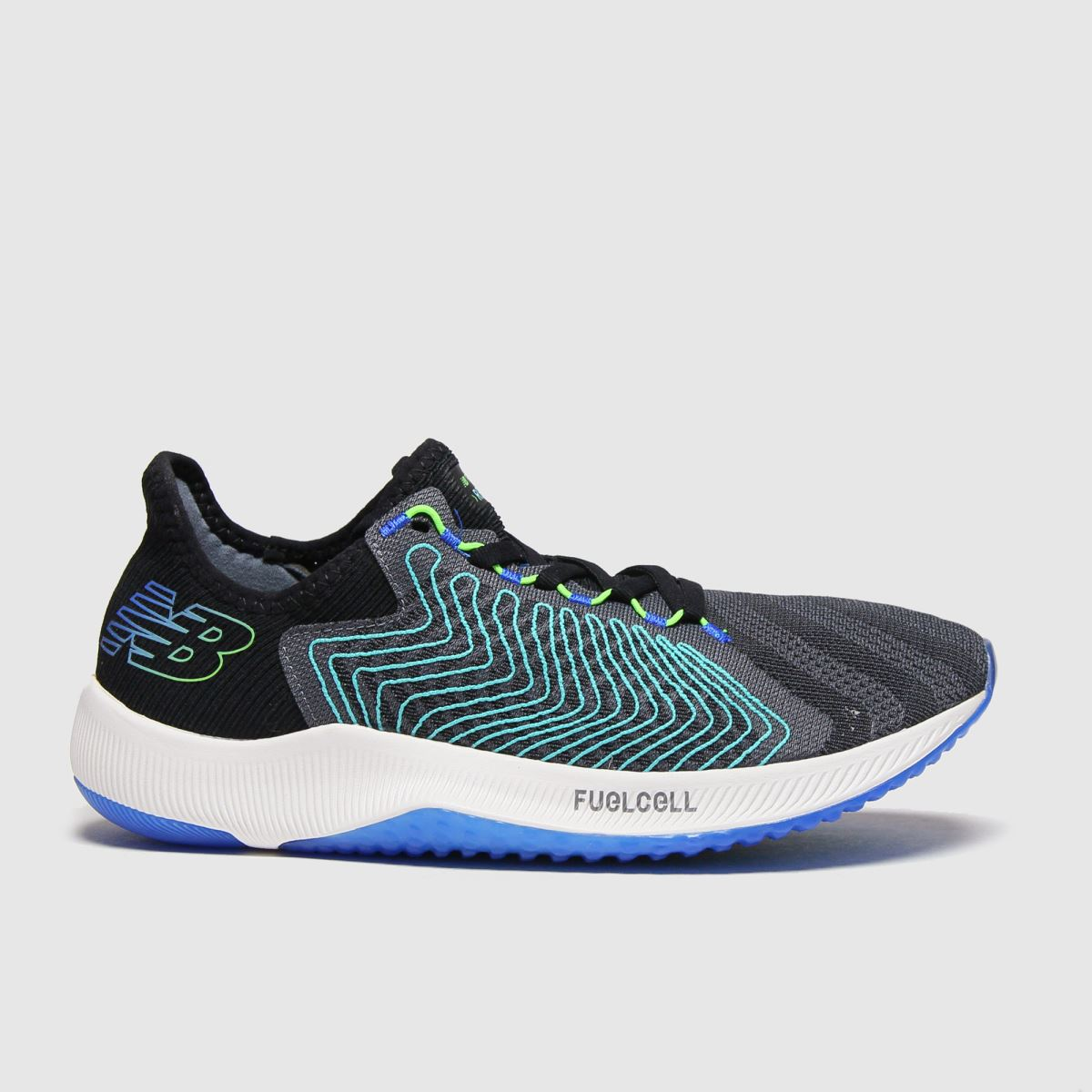 New Balance Black And Blue Fuelcell Rebel Trainers