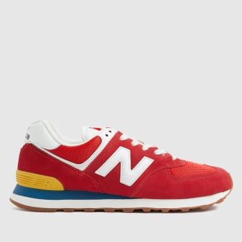 New balance Red 574 Mens Trainers