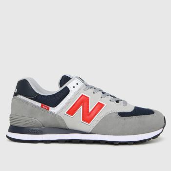 New balance Pewter 574 Mens Trainers