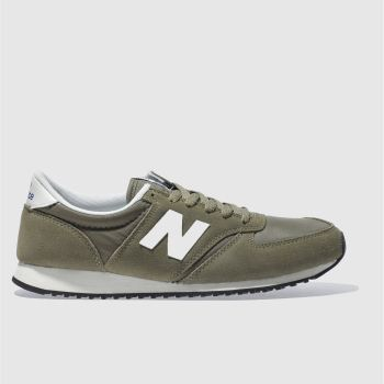 new balance 420 micro mesh trainers in khaki