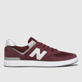 New Balance Burgundy All Coasts 574 Mens Trainers#