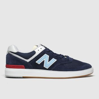 New Balance Navy & White All Coasts 574 c2namevalue::Mens Trainers