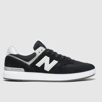 New Balance Black & White All Coasts 574 c2namevalue::Mens Trainers