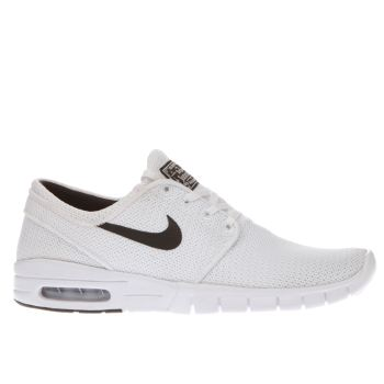 the cheapest best online finest selection mens white & black nike sb stefan janoski max trainers | schuh