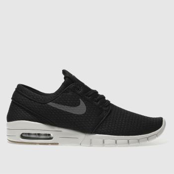 Nike Sb Black & Grey Stefan Janoski Max Mens Trainers