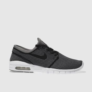 Nike Sb Grey & Black Stefan Janoski Max Mens Trainers