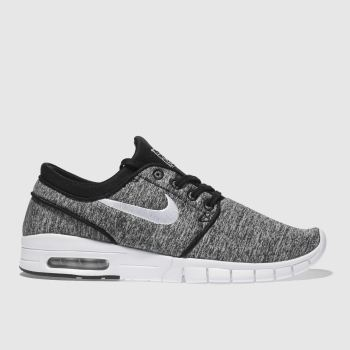 brand new 596db 787d8 Nike Sb Grey   Black Stefan Janoski Max Mens Trainers