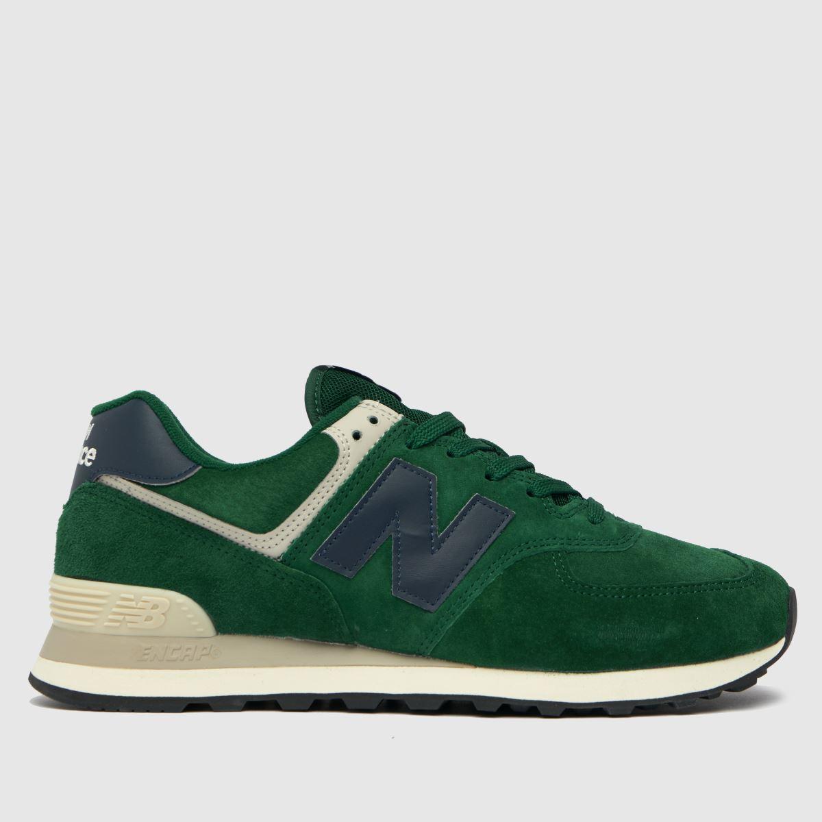 New Balance Dark Green 574 Trainers
