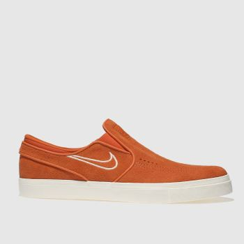 Nike Sb Orange Zoom Janoski Slip Mens Trainers