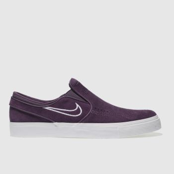 Nike Sb Purple Zoom Janoski Slip Mens Trainers