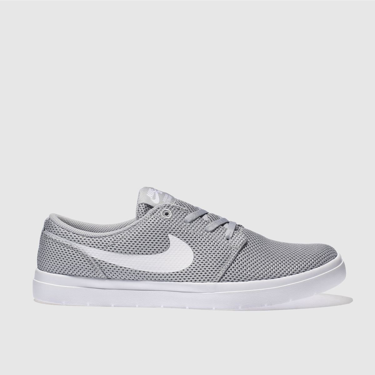 Nike SB Solarsoft Portmore II Men's Skateboarding Shoe - Grey Image