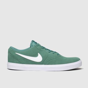 Nike Sb Green Check Solar Mens Trainers