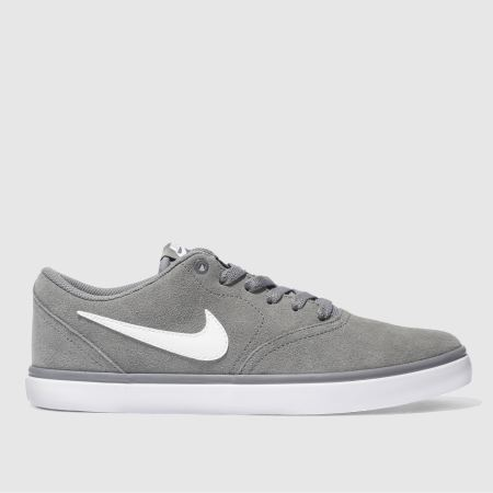 Mens Light Grey Nike Sb Check Solar Trainers Schuh