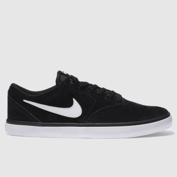 Nike Sb Black & White CHECK SOLAR Trainers