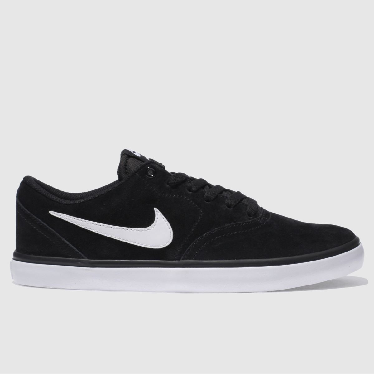 Mens Black Amp White Nike Sb Check Solar Trainers Schuh