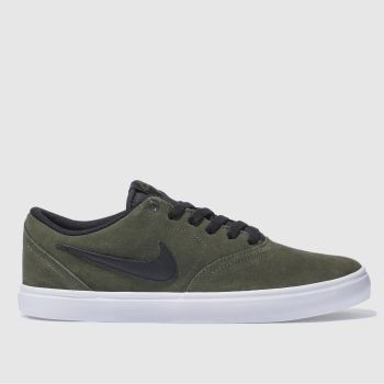 Nike Sb Khaki Check Solarsoft Mens Trainers