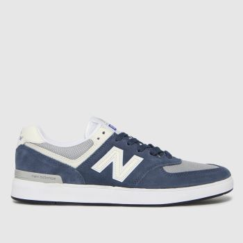 New balance Grey & Navy All Coasts 574 Mens Trainers