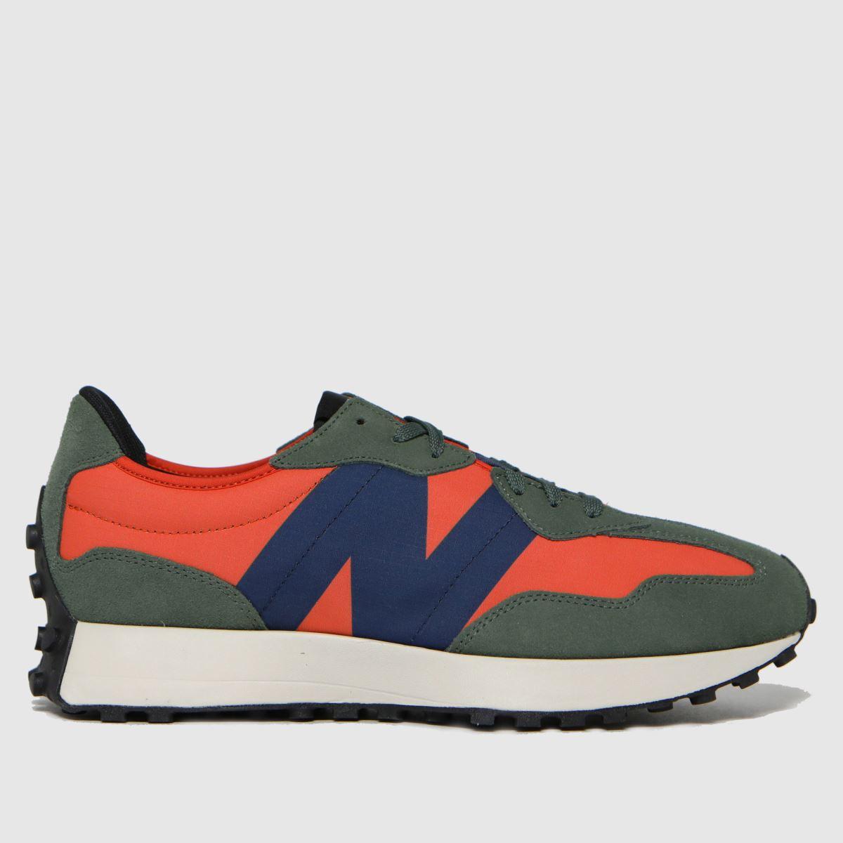 New Balance Orange 327 Trainers