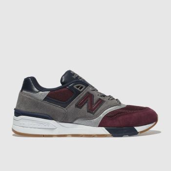 New Balance Burgundy 597 Mens Trainers