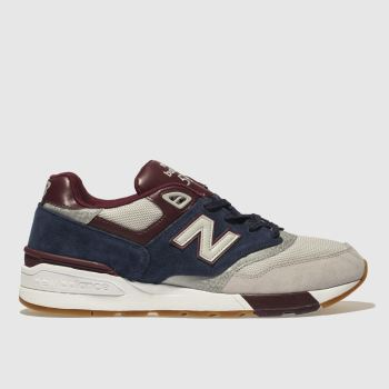 New Balance Navy & Grey 597 Mens Trainers