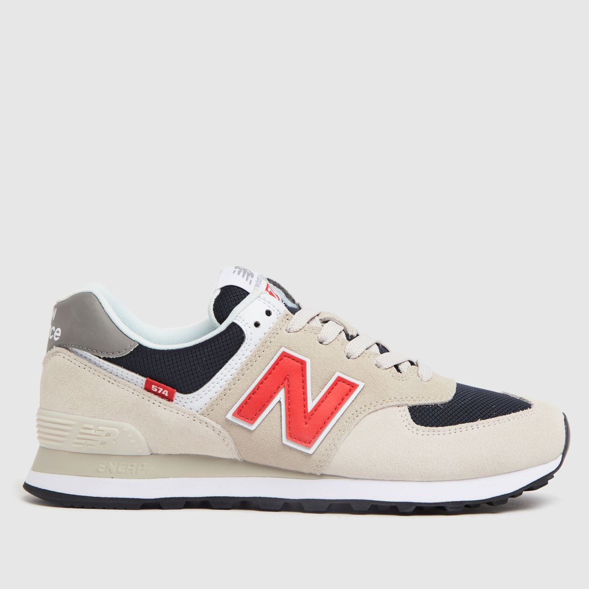 New Balance Stone & Navy Nb Ml574 Trainers
