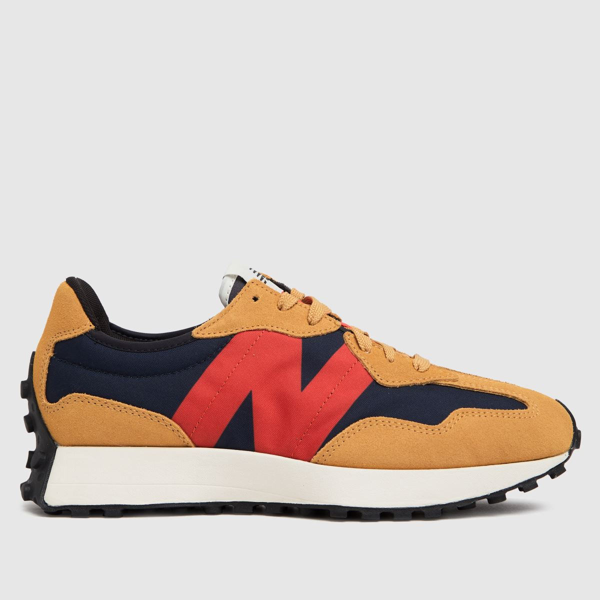 New Balance Navy & Red 327 Trainers