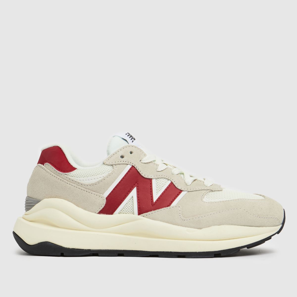 New Balance White & Red 57/40 Trainers